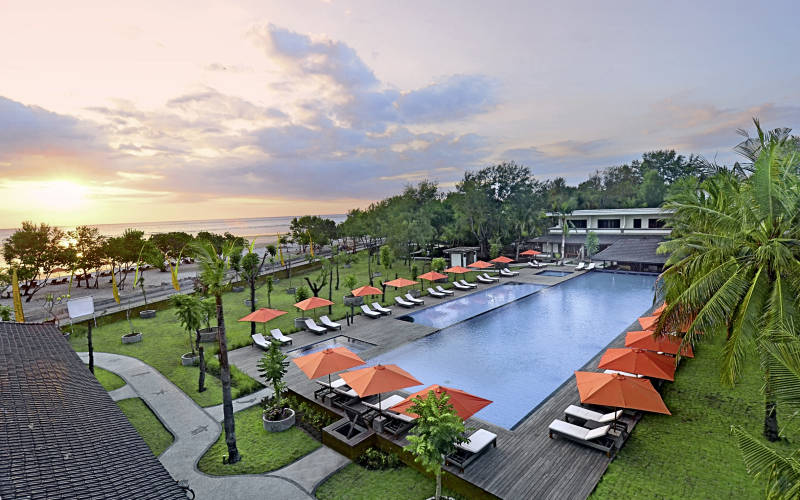 Hotels in gili islands and lombok  : Ombak Sunset